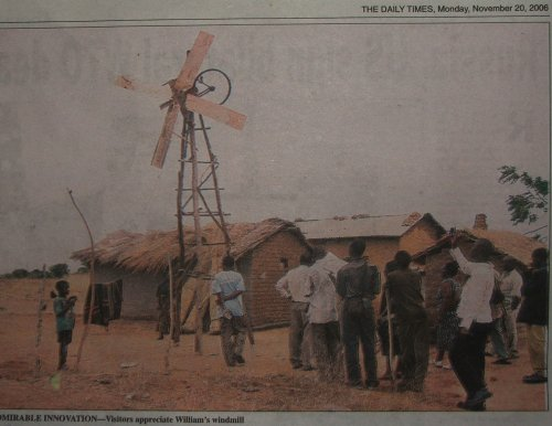 Homemade Windmill Malawi