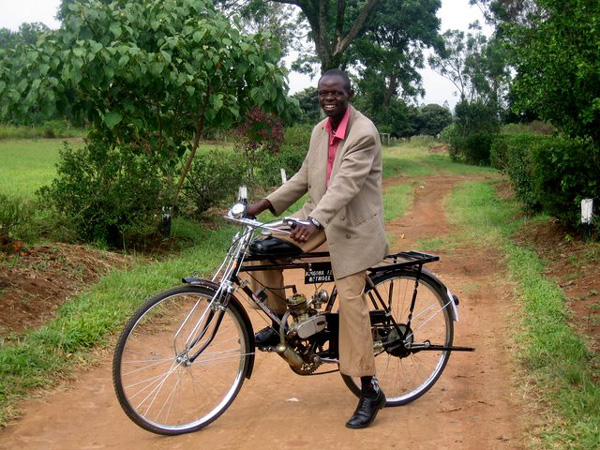 Motor On A Bike in Kenya