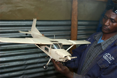 Phillips model airplane in kenya