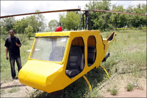 Mubarak Abdullahi's home-made helicopter