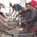 Creating a hammer in a Nairobi ironworks