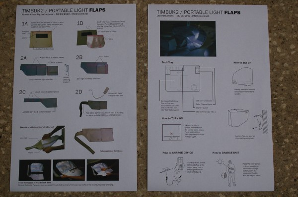 FLAP bag kit assembly and usage directions