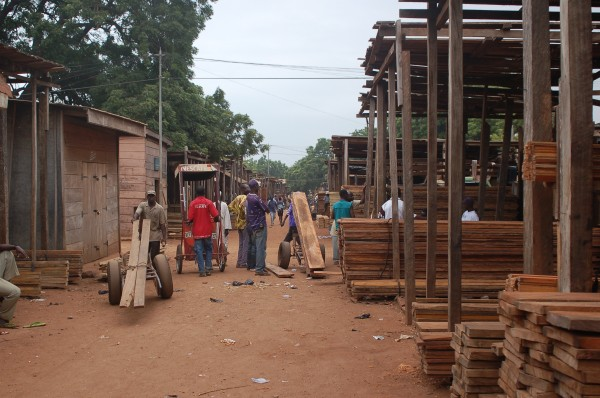 Lumber yard in Makola
