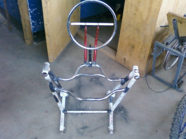 A chair made from bicycle parts - Tanzania