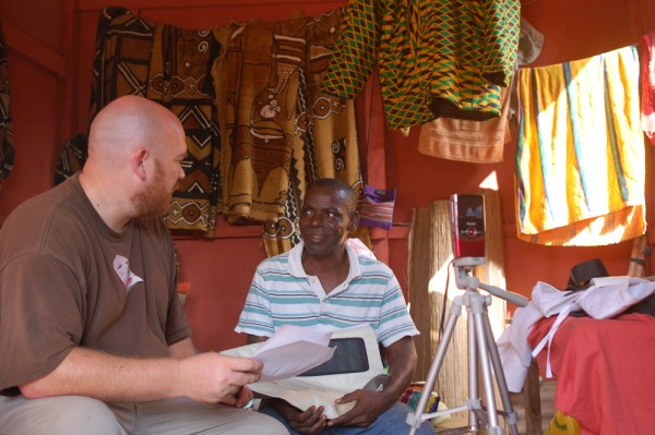 Interviewing Elijah in Ghana