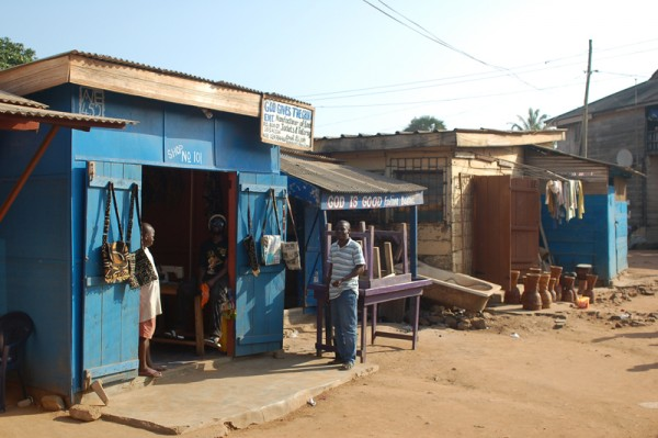 Tailor shop in Accra Ghana