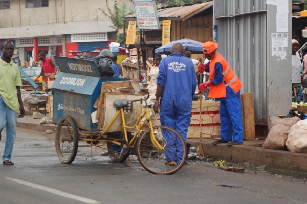 Trash Collecting Trike in Accra Ghana