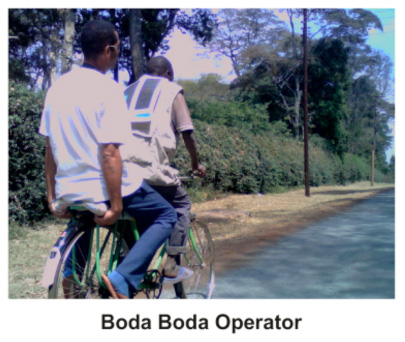 Solar powered vest for bodaboda bicycle taxis
