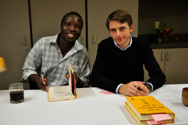 William Kamkwamba and Bryan Mealer at a book signing