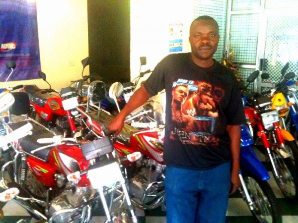 Julius - manager of the downtown branch for Adtec motorcycles