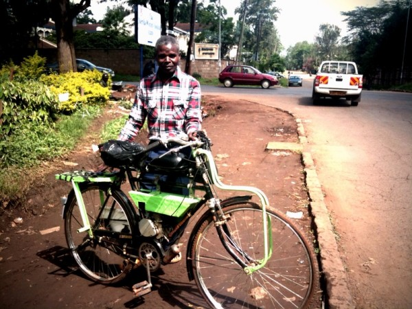 Motorized bicycle in Nairobi