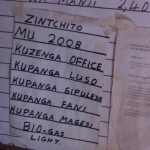 On the wall of the office of Frederick Msiska
