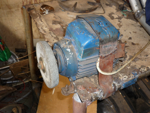 water pump engine used for a grinder
