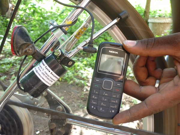 GCS Bicycle-powered Kiwia Phone Charger