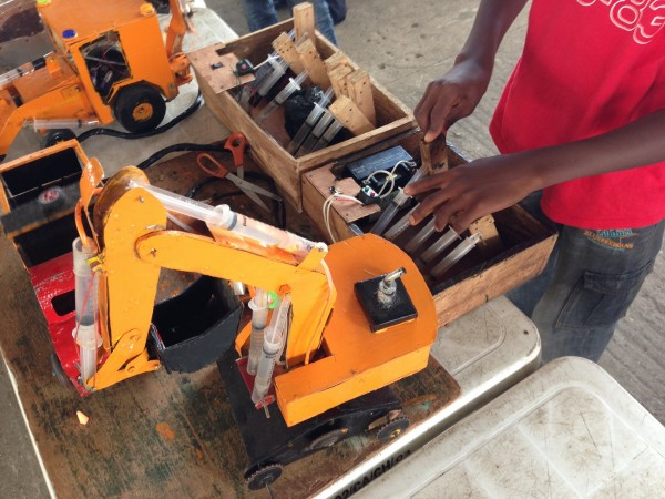 Handmade hydraulic toys at MFA 2012 in Nigeria